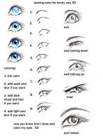 how to draw eyes my way heehee by GabriellesWings