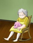 Muriel and her Dog by hanitles