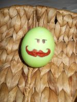 My mustache egg by Snow-Feather1203