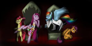 Cupcakes and Rainbow Factory [2] by InsanitylittleRed