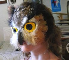 Owl Mask by FamiliarOddlings