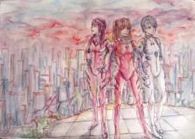 NGE Sunset City by Allegro97
