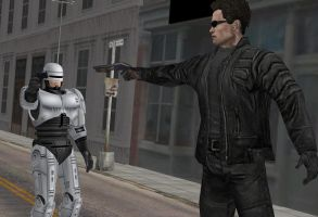 Terminator Vs. Robocop by calibur222