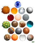 Material Spheres by Hauket