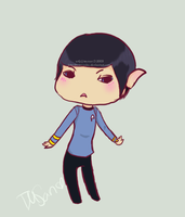 Miniature Spock by rawr-cake
