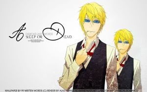 Shizuo Wallpaper: Asleep or Dead by tea-junkyard