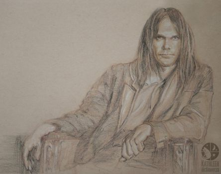 Neil Young by Katcolorist