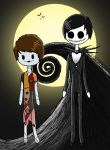 Dan and Phil as Jack and Sally by kickthebuttsex