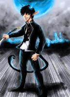 Rin Okumura by Wolven-Sister