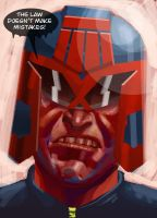 Judge Dredd for Comic Twart by MisterHardtimes