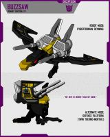 CYBERTRONIAN BUZZSAW by F-for-feasant-design