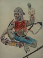Skater Ghoul-an art trade by dhbraley