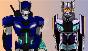 TFP ThunderSide and WhiteRaven by Primeval-Wings