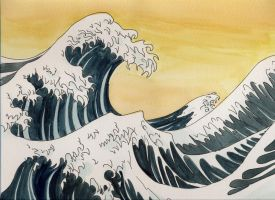 japanese waves by Cobaltz