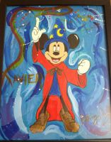 Sorcerer Mickey Painting by copyninja31