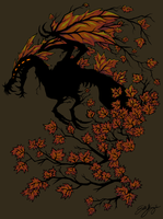 Autumn Tree Dragon by Chewilicious