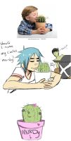 Stock photo 2D and his cactus by irsaona