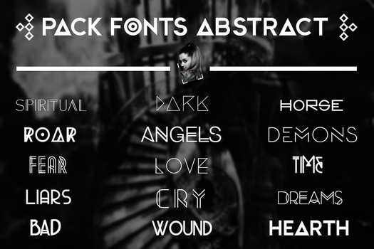 +FONTS || ABSTRACT by swxt-moon