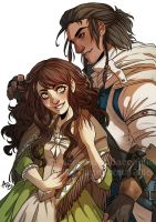 Commission - Rose and Connor by toffeebit by Miss-Pannacotta