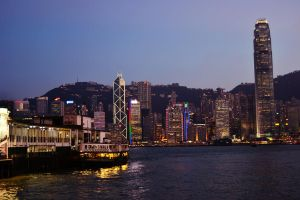 Hong Kong - Start of night by castles-609