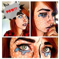 Pop art Make up by Arisusandasu