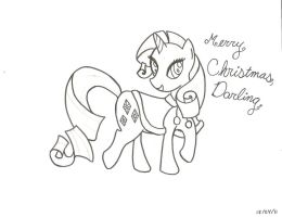 Merry Christmas from Rarity by Daisy-Sprinkles