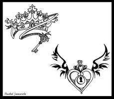 Crown and Locket by shadowcreeper7