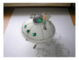 Altered art UFO by pushok1983