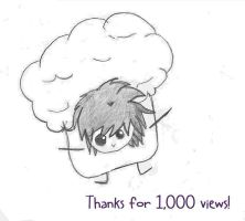Thanks for 1,000 by zigidity