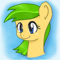 Headshot OC Pony Gold by ijustloveit619