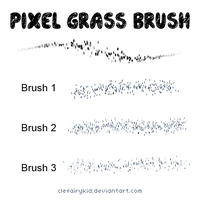 Pixel Grass Brush Set by ClefairyKid
