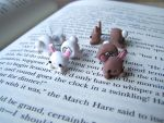 Double-Sided Bunny Earrings!!!! by N-Chiodo
