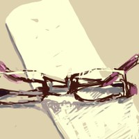 glasses on paper by milkybee