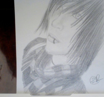 Andy Six from BVB Drawing by omgninjaspazz