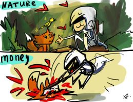 Assassin's Creed 3, doodles by Ayej