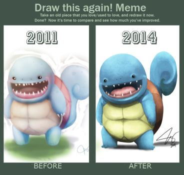Draw this again!: Squirtle by chuckie-chan
