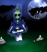 meditating in the moonlight by Crow1992