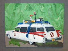 Ecto-1 and slime by SledgeGE2