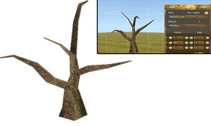 Free to download Very lowpoly Dead tree by WulfTheWolf