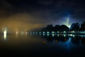 a Foggy night at Helsinki by VMinor