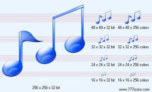 Music notes Icon by music-icon-set
