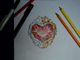 haer shaped ruby tattoo design by ArturNakolet