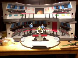 Star Trek USS Enterprise Custom Bridge Model by JorgeElGrande
