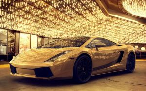 Gold Lambo by cambot6000
