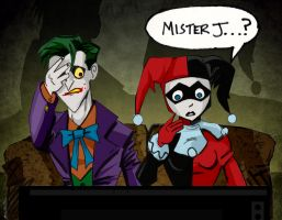 Harley watches Batman Live by memorypalace