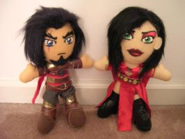 Prince of Persia and Kaileena by WhittyKitty
