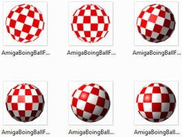 Amiga Boing Ball Icons Set by PixelOz