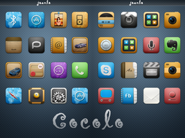 WIP Iphone Theme  - Cocolo by joanlo