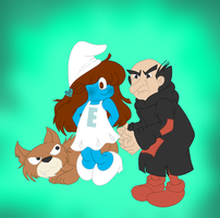 Mommy's Smurf by MuseofLullabys