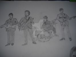 Well its written on the pic. Beatles by TrilleTrolle
